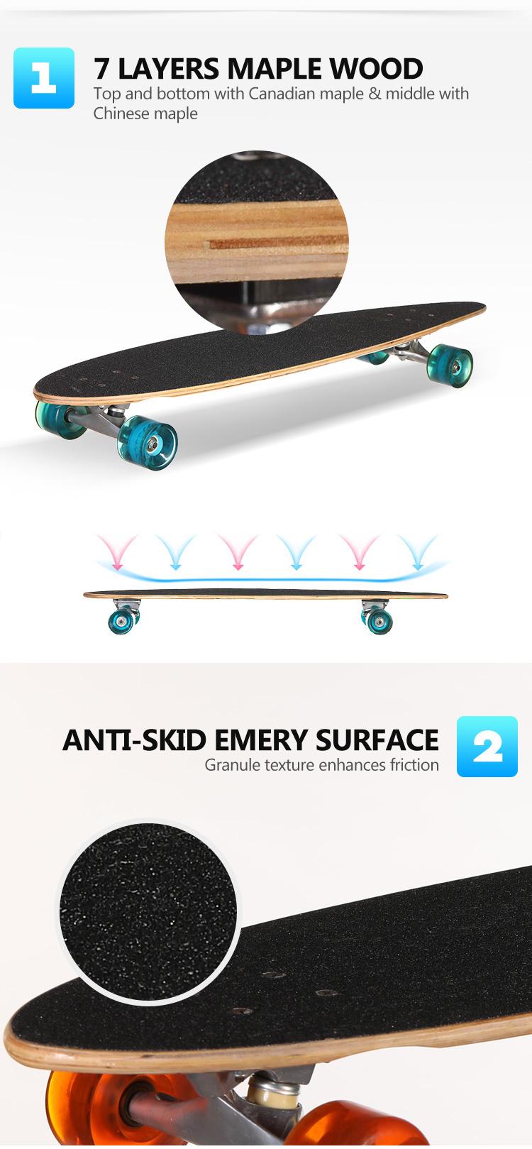 OEM Fabricante Longboard Skate Personalizado 40 polegadas de altíssima qualidade