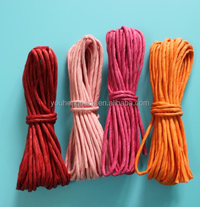 All colours cheap craft twisted decoration paper rope for sale