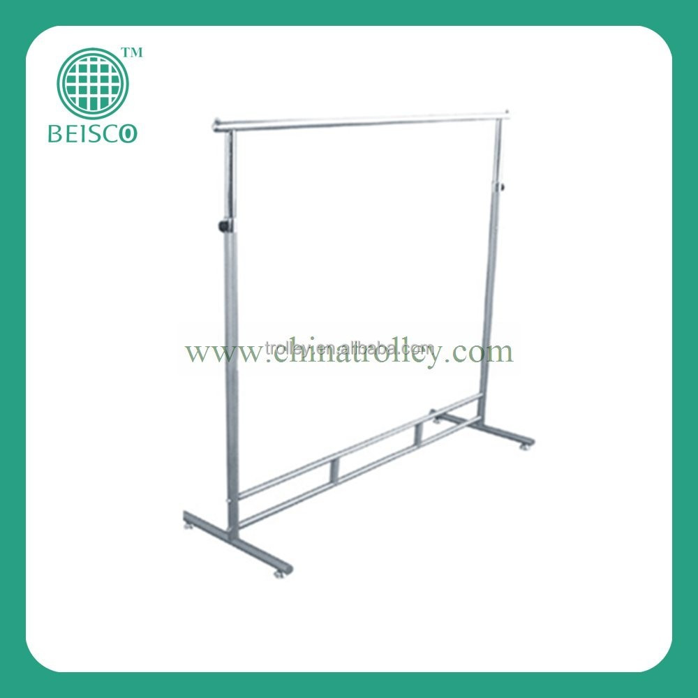 expandable stainless steel single pole pipe clothes rack