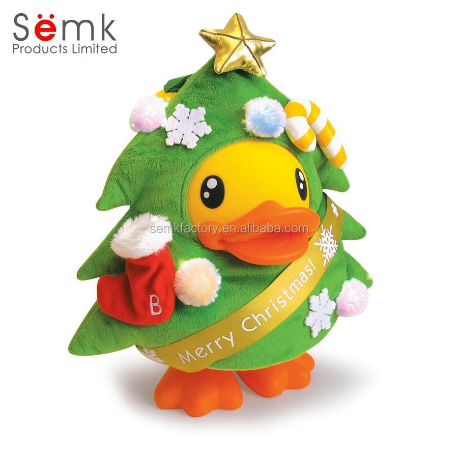 Toddlers Christmas Duck Toys Big Yellow Duck Plush Toy For Gifted ...
