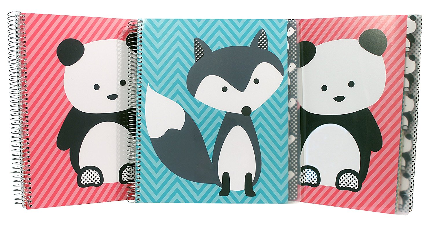 Studio C Hair of the Dog Five Subject Writing Notebook, 3 Pack (37081)