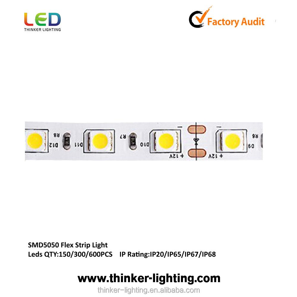 CE RoHS 12v SMD5050 ultra thin led strip rechargeable led strip light led strip bulk for usa market