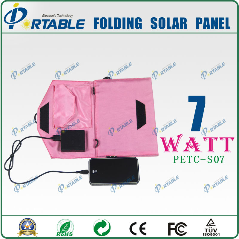 4 folding smart waterproof 7W phone solar generator usb for traveling/camping
