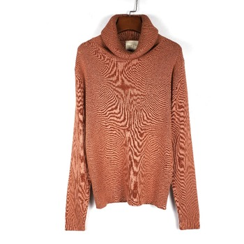 wholesales high quality apricot color turtleneck sweater for women