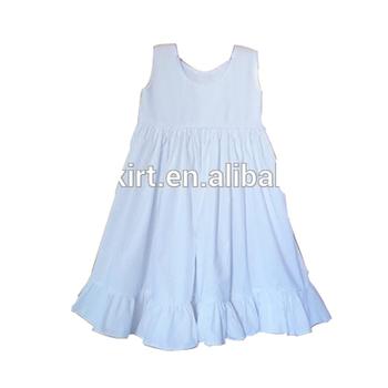 c55fab5f99092d Hot selling Smocked Kids Clothing Wholesale Children Girl Dress Blank Sleeveless  Baby Girl Cotton Dresses