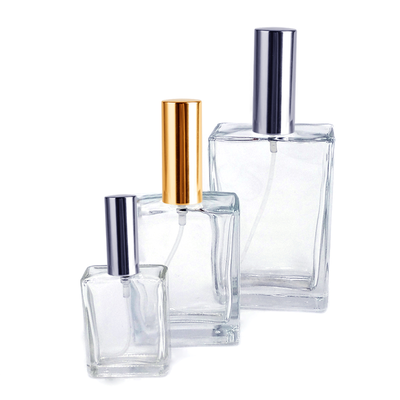15ml 30ml 50ml 100ml China Hersteller Square Luxury Parfüm Glasflasche Design