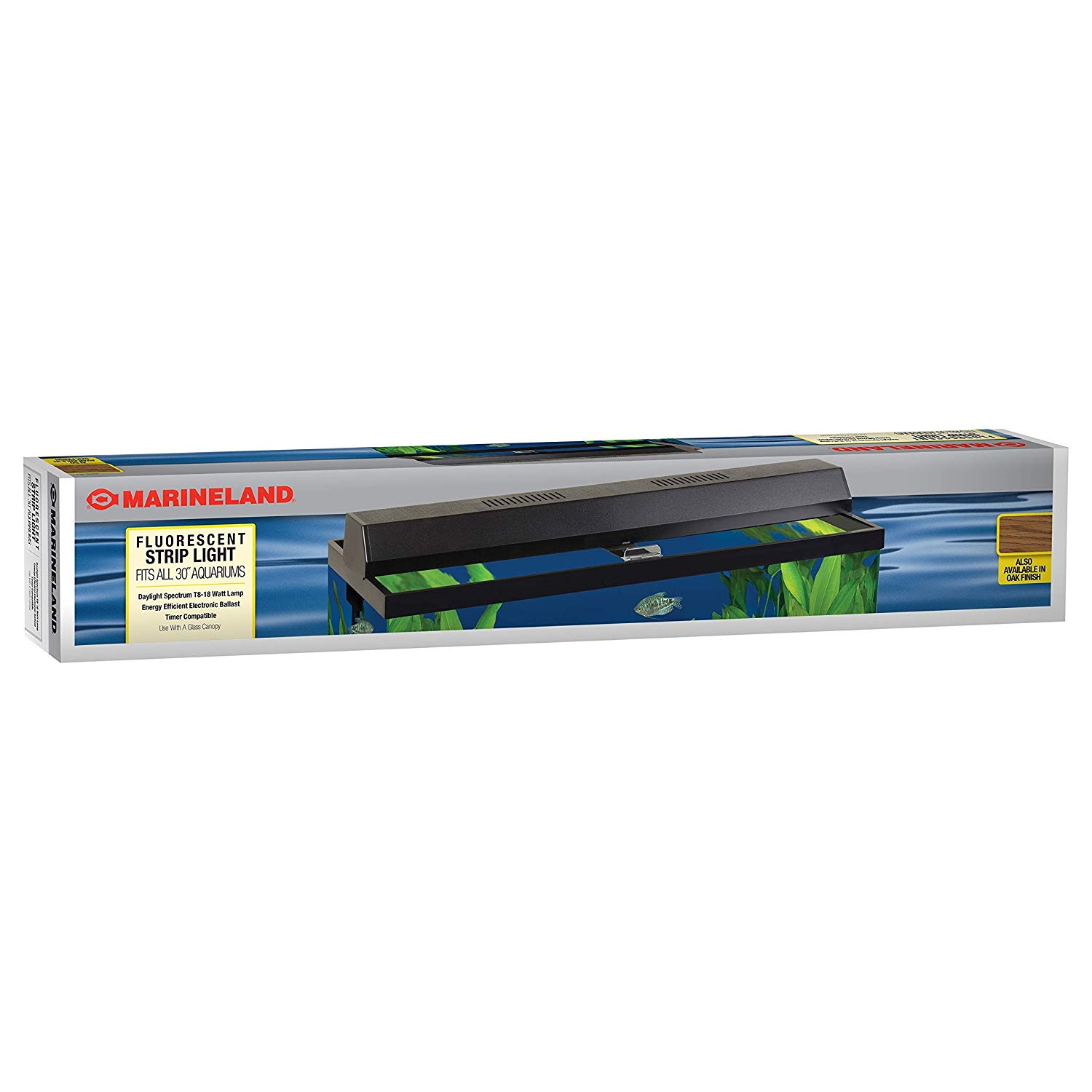 Perfecto Manufacturing APF26302 Marineland Fluorescent Perfect-a-Strip Light Reflector for Aquarium, 30-Inch, Black