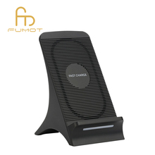 Stand shape original portable wireless charger QI fast charging with gift box