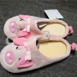Women ladies piggy pig 3D winter indoor home slippers with TPR sole