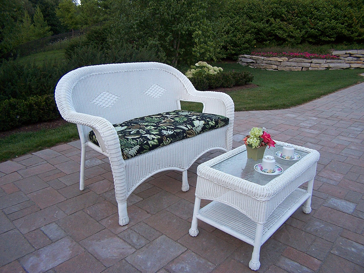 resin incredible wicker black outdoor forest plan remodel patio loveseat portofino