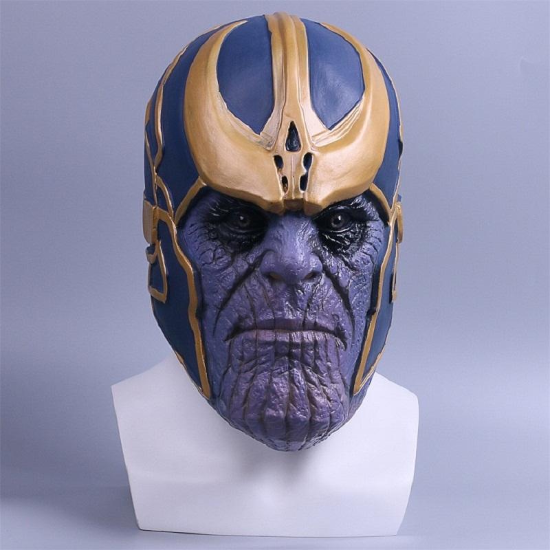 2018 Avengers Infinity War Mask Cosplay Thanos Mask Full Latex Halloween Helmet