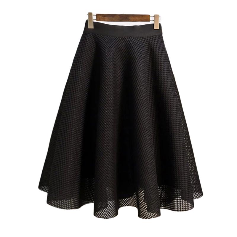 149a5b4fb8b7 Get Quotations · 2015 Autumn New Arrival Desigual Vintage Cute Women Hollow  Out High Waist Knee-Length Skirt