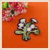 2016 decorative custom floral patches embroidery flower patch&applique for clothing