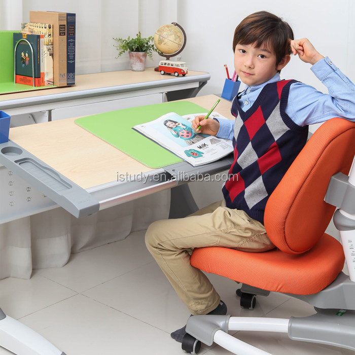 Top level best sell ergonomic adjustable kid home study desk HY-S120B