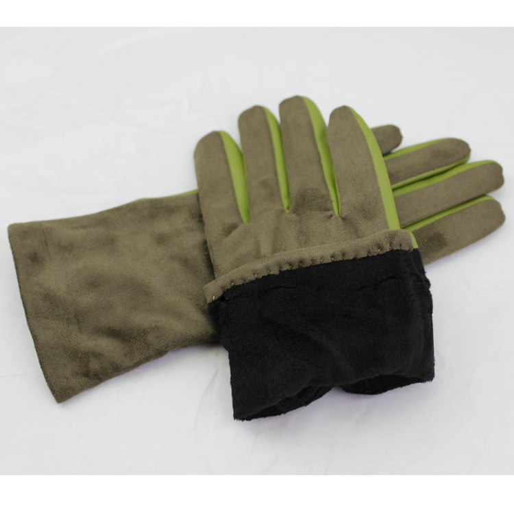 new style custom made suede colorful leather hand gloves women gloves