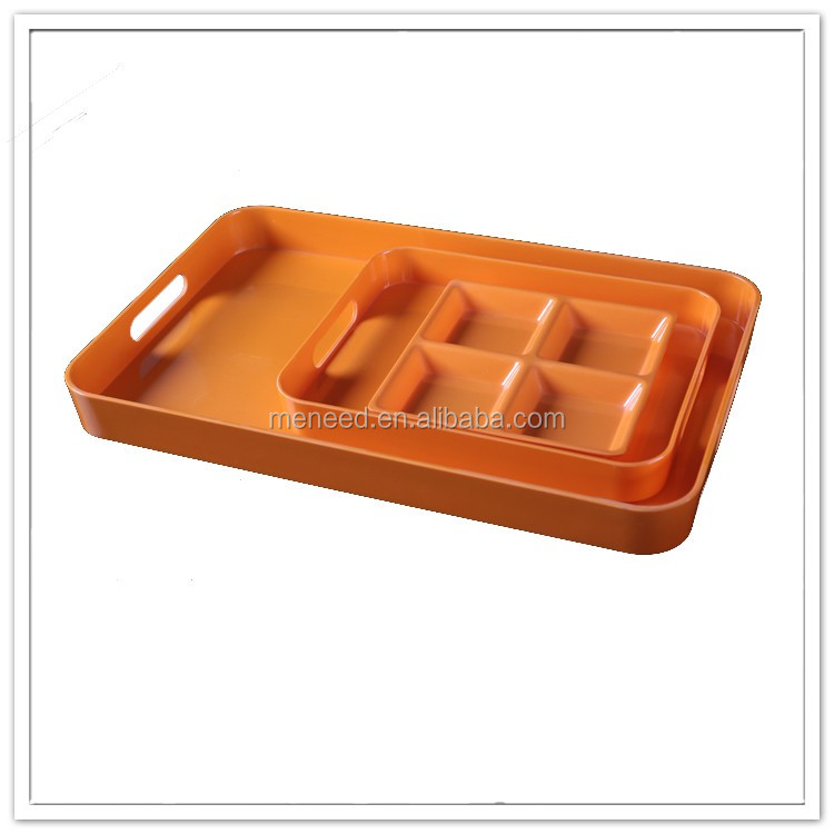 Rectangle bulk antique plastic cafeteria serving trays for coffee