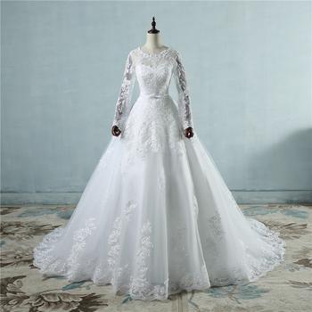 Ne196 Corset Lace Up 2017 White Wedding Dresses With Lace Big Train ...