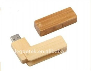 AZO free wooden usb disk with good quality logo service
