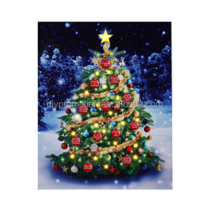 Mr Christmas Musical Illuminart Ornament Tree Art Lighted LED Canvas Light Show with 12 Holiday Songs