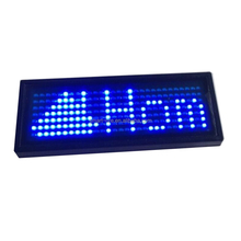 High Brightness digital led name badge electronic No Driver led flashing badge