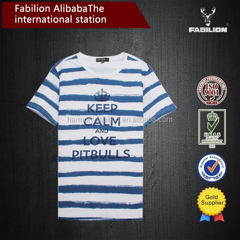 Men's clothing han edition 2016 summer wear new cultivate one's morality short sleeve T-shirt printing stripe of dry fit t shirt