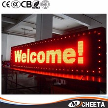 Shenzhen Factory Double Side P10 Red Scrolling Message Moving Led Display Led Board For Outdoor