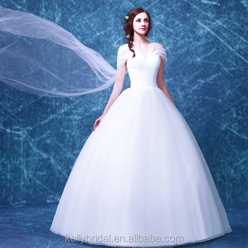 e1dc566d466 ZM 16121 big long sash off-shoulder tulle ball gown wedding dress romatic princess  style