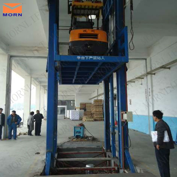 good quality hydraulic portable guide rail lift elevator electric vertical forklift cargo lift