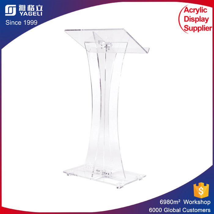 Steel design Acrylic perspex podium stand for speech