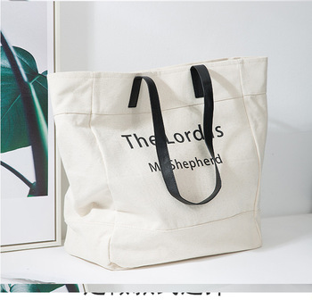 2019 Trends Eco Friendly Printing Canvas Shopping Tote Bag With