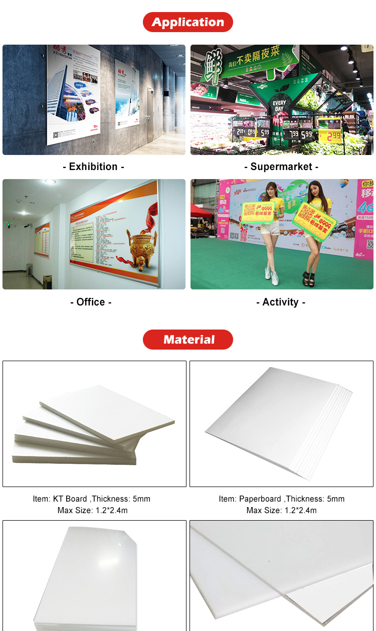 Advertising Custom Die Cut KT Foam Board