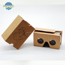 New design folded google cardboard vr box 1.0,easy using DIY vr box with low weight and express cost