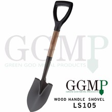carbon steel agriculture farming wooden handle garden spade shovel