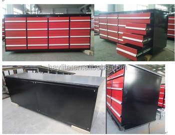 Heavy Duty Metal Garage Workshop Steel Tool Wood Top Storage Workbench