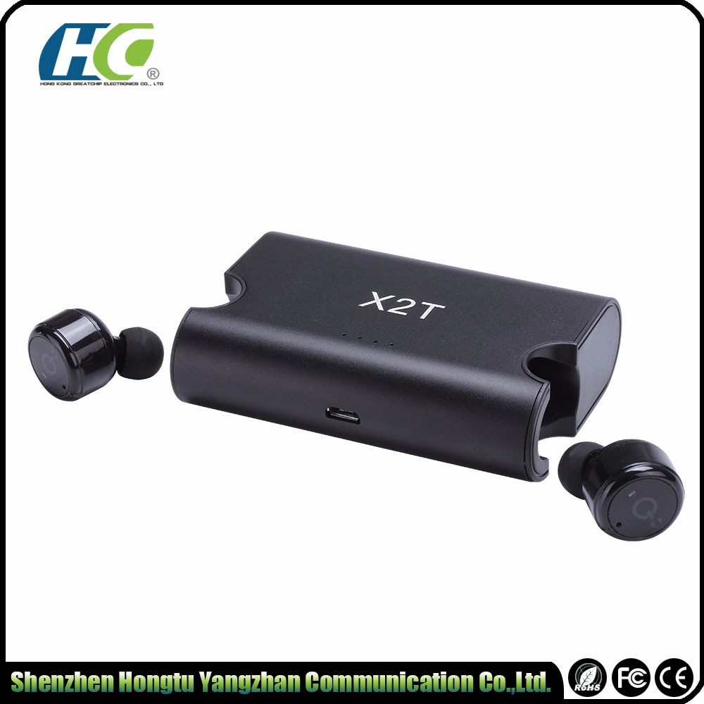 Unique wireless earphone power bank bluetooth headphone earbuds customized logo