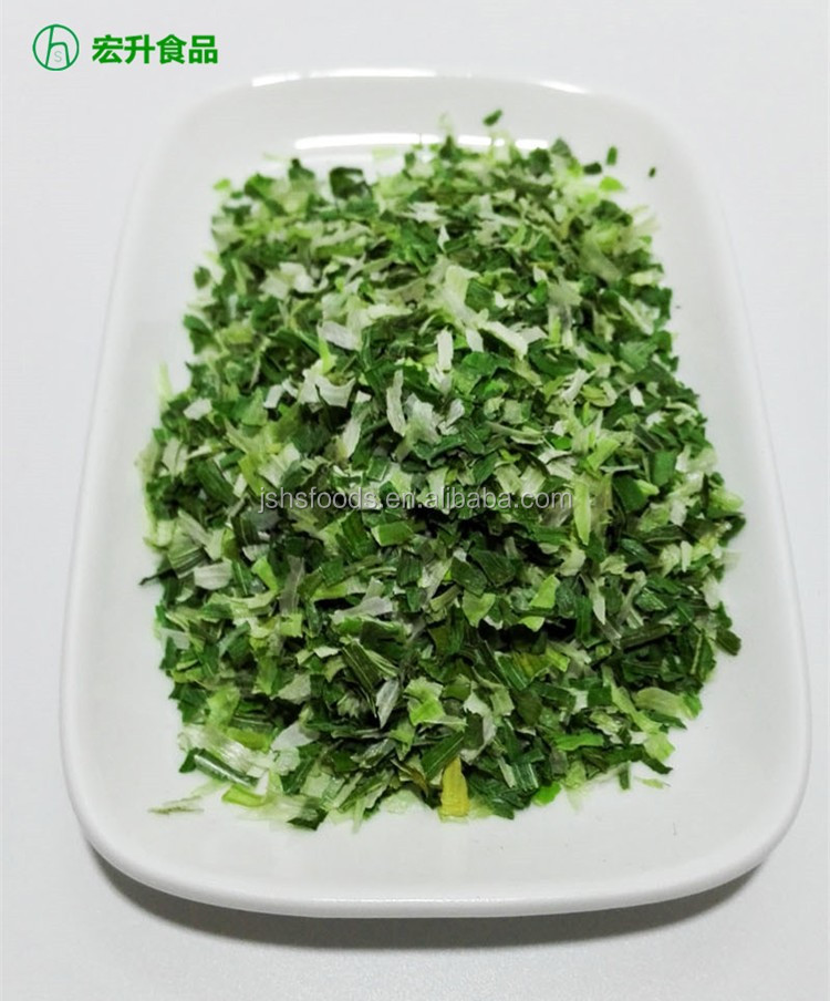 Ad Drying Process Dehydrated Chive Flakes Green Onion Flakes