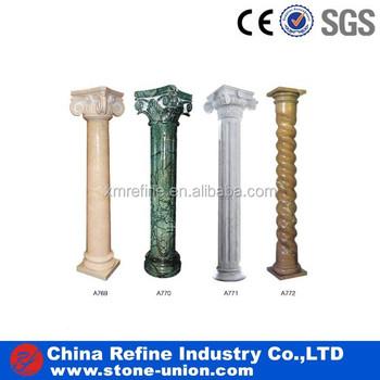 M rmol beige columna de piedra natural granito verde pilar for Piedra de marmol precio