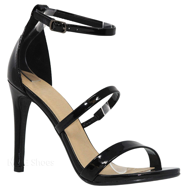 MVE Shoes Women's Open Toe Strappy Stiletto Sandal