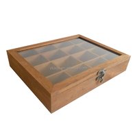 Rectangular wooden tea box