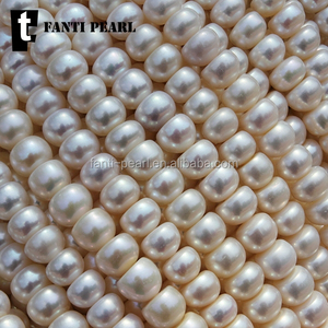 freahwater pear strand l button pearl 8-9mm AA good luster