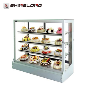 Commercial Multifunctional 1.2M 4 Layers Bakery Cake Display Showcases