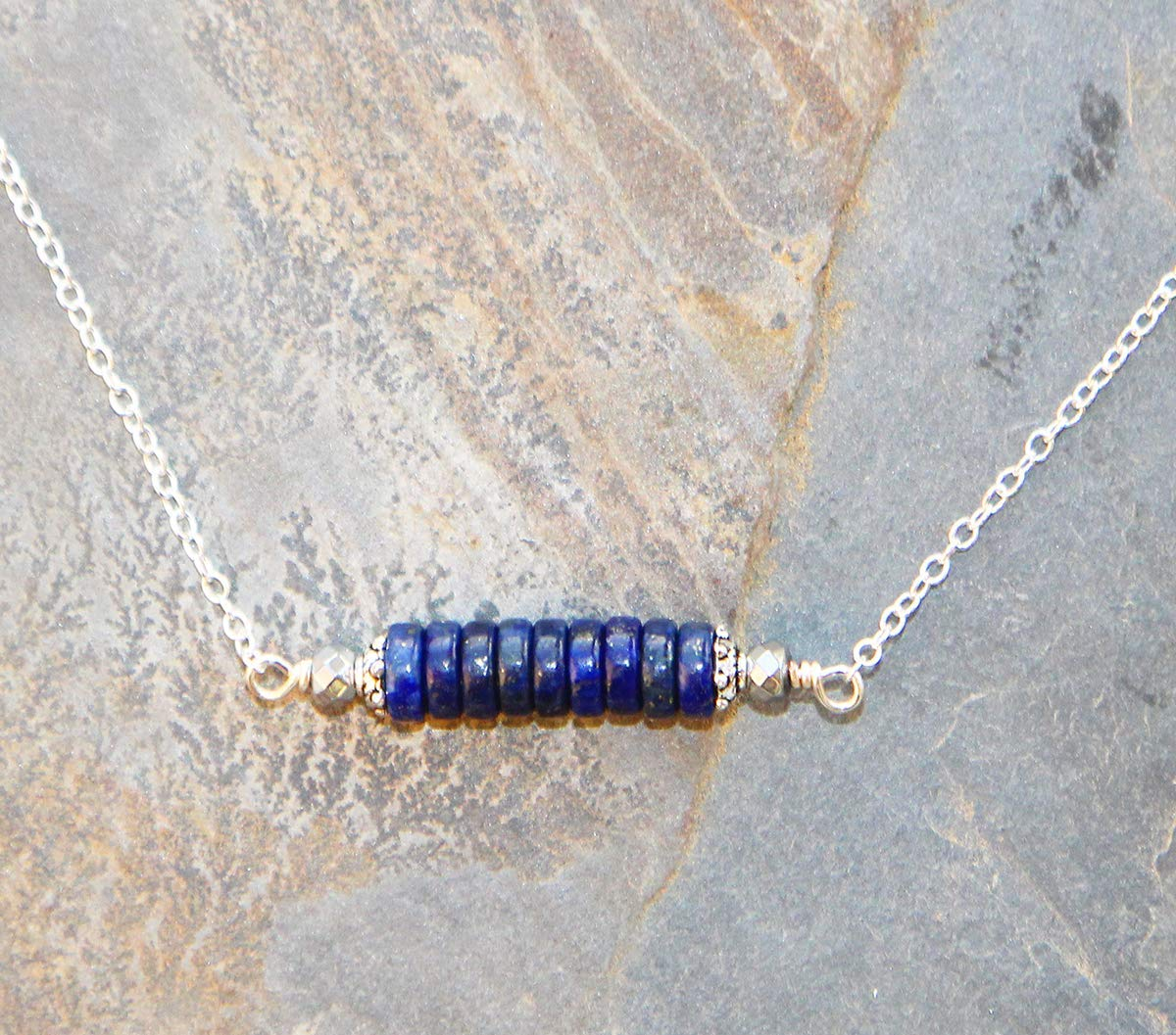 Lapis Lazuli Necklace, Royal Blue Necklace, Lapis Necklace, Blue Necklace, Bar Necklace, Natural Stone Necklace, September Necklace, For Her