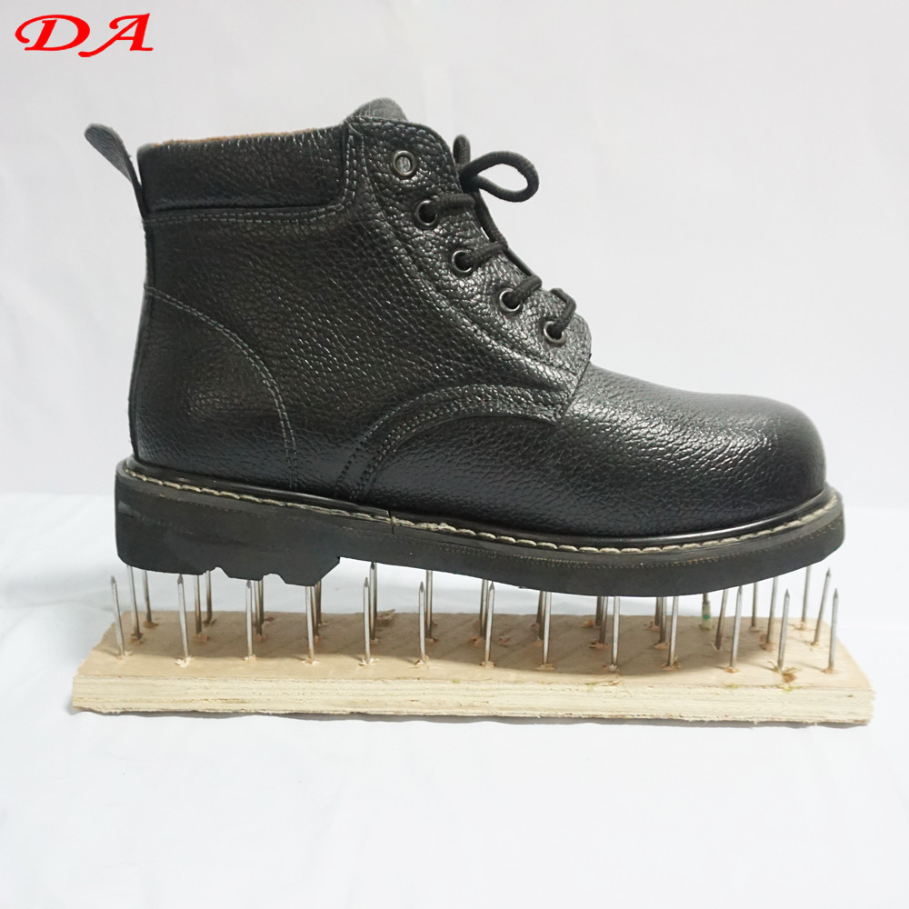 Professional Heat Resisitant Industrial European Black Steel Safety Shoes