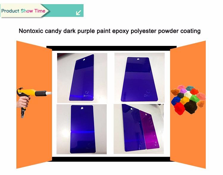 nontoxic candy dark purple paint epoxy polyester powder coating