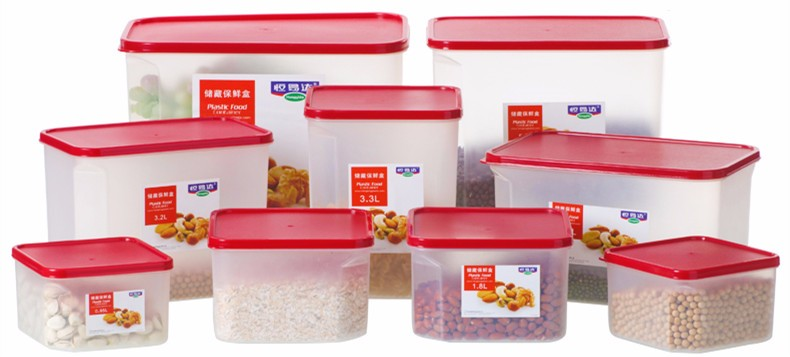 PP wholesale bpa free food grade airtight clear kitchen food vegetable cereal storage containers