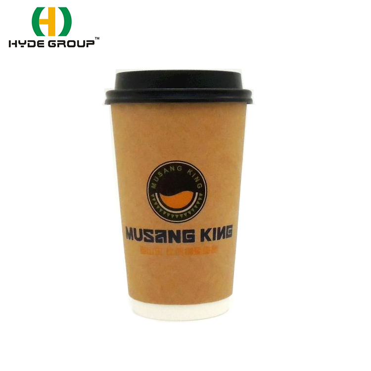 Disposable Double Wall Coffee Christmas Paper Cup met deksel Coca