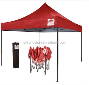 Cheap Steel Frame Foldable Outdoor Gazebo 3x3 folding canopy tent