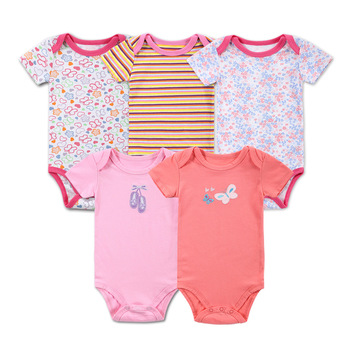 High Quality Newborn Baby Girl Rompers 100% Cotton Baby Clothes Romper Summer