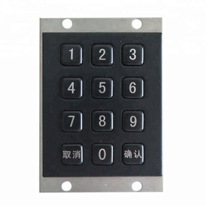 3*4 keys metal keypad black titanium plating bank keypad