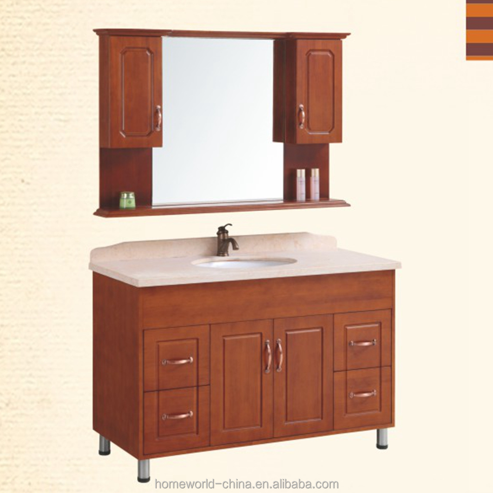 High quality oak wood bathroom cabinets bathroom vanity